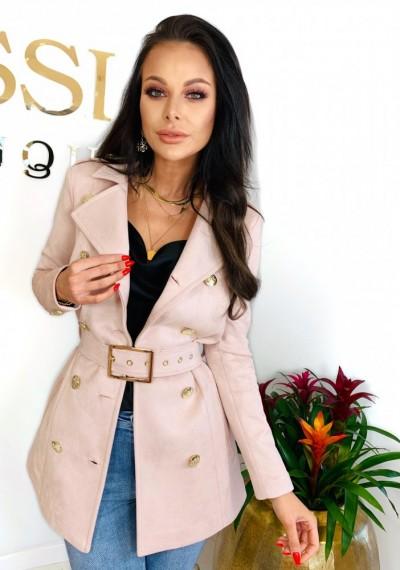 Płaszcz TROY- róż 1