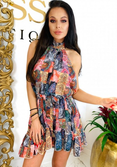 Sukienka z Kolorowym printem MARCIA