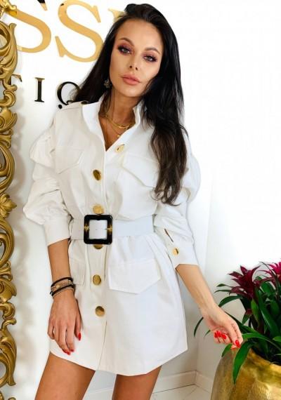 Sukienka/Płaszcz TANYA- biel