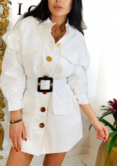 Sukienka/Płaszcz TANYA- biel 1