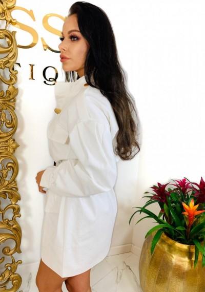 Sukienka/Płaszcz TANYA- biel 4