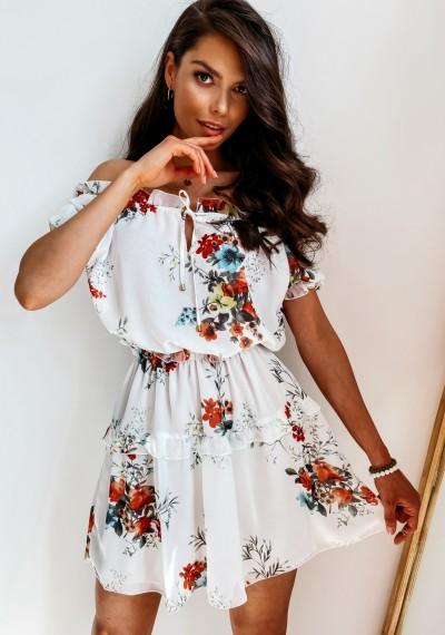 Sukienka CAROL White