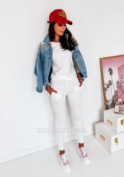 Spodnie LARA- biel 2