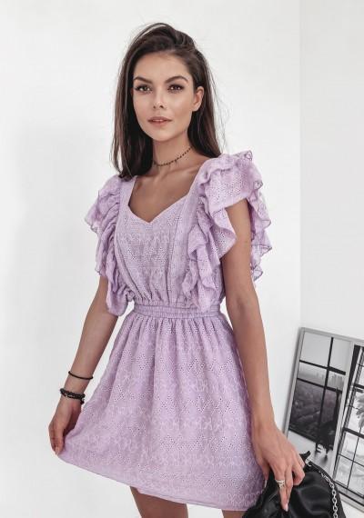 Sukienka GRACIA- print fiolet