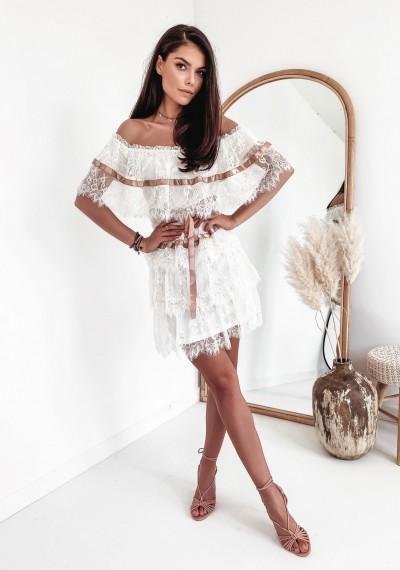 Sukienka SANDY Ecru 2