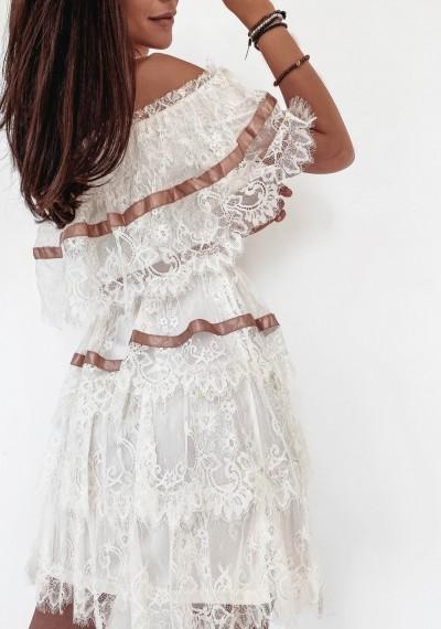 Sukienka SANDY Ecru 3
