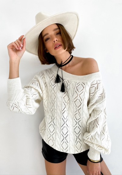 Sweter ROSALIE- ecru