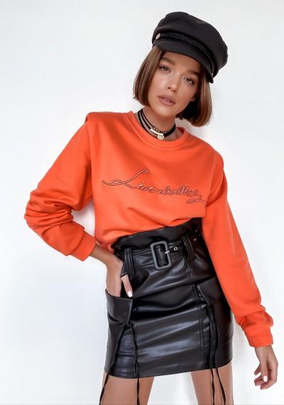 Pomarańczowa Bluza z napisem LOVI ORANGE