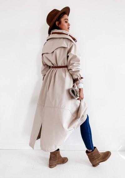 Beżowy Luźny Płaszcz LOGAN BEIGE 4