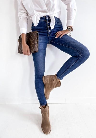 Ciemne Niebieskie Spodnie Jeansowe DWEYN 2
