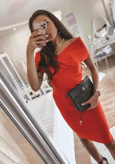 Czerwona Bandażowa Sukienka MONROE RED
