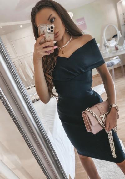 Czarna Bandażowa Sukienka MONROE BLACK