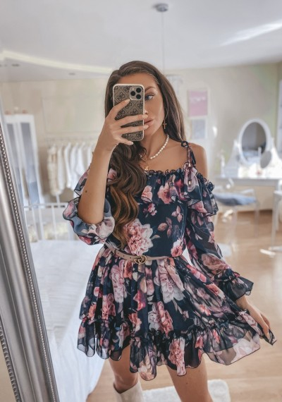 Sukienka hiszpanka kwiaty FLORA