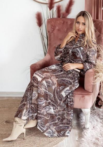 Sukienka maxi print SHANNON