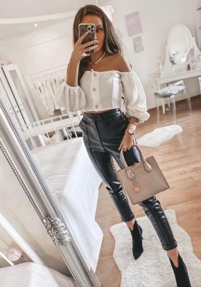 Skórkowe spodnie WILLY Czarne 2