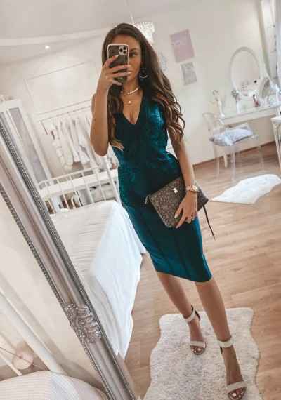 Sukienka bandażowa dopasowana MARIKA ZIELEŃ 2