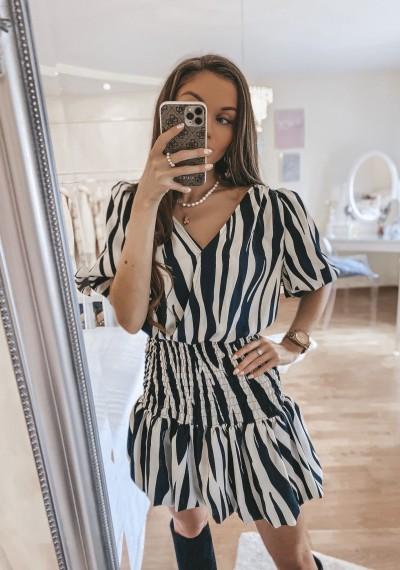 Sukienka ELIS w print zebry