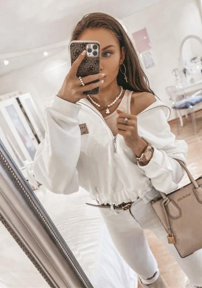 Bluza ELISA biała z zamkiem 2