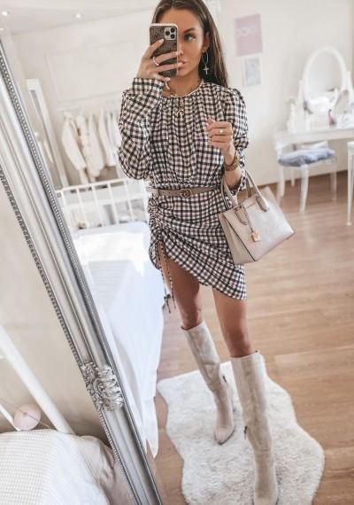 Sukienka w kratę SALLY 1