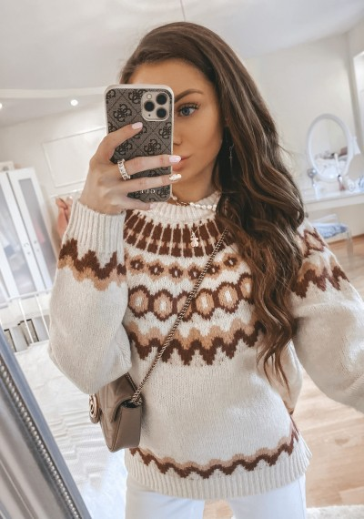 Sweter MARLU we wzór