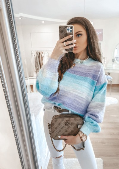 Sweter ombre MEGAN with PURPLE