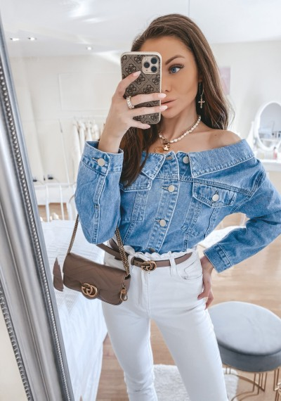 Kurtka jeansowa ELEVEN NIEBIESKA