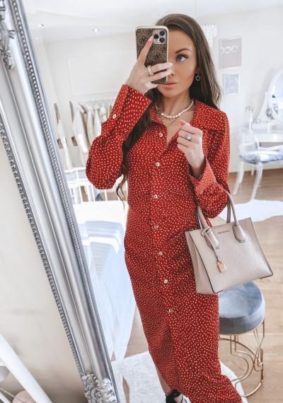 Sukienka CYNTHIA RED midi w print