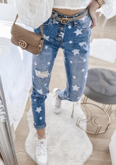 Spodnie jeansowe STAR w gwiazdki