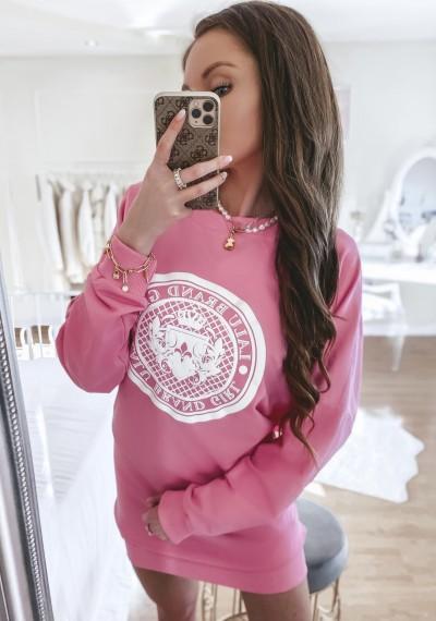 Bluza/sukienka LARA bawełniana oversize różowa
