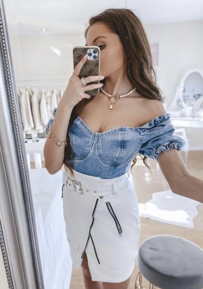 Body LOUISE jeansowe 1