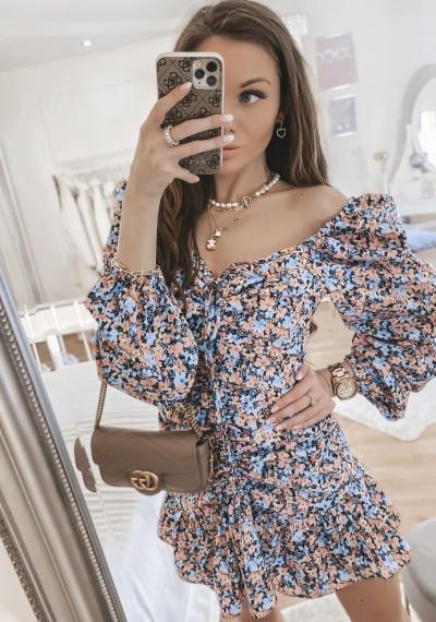 Sukienka LENNY w kwiatowy print DARK