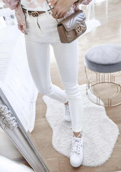 Spodnie RINO woskowane ecru