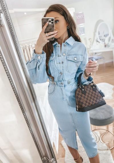 Sukienka jeansowa TALLY midi