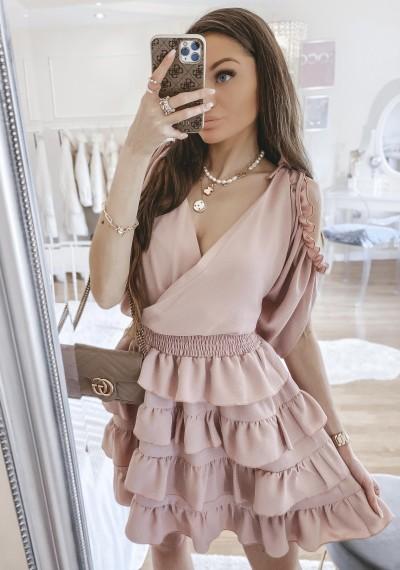Sukienka LORETT PUDROWA