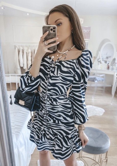 Sukienka LENNY w print ZEBRA