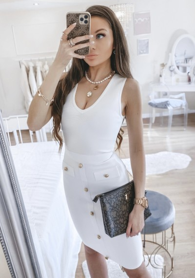 Sukienka MULAN biała bandażowa