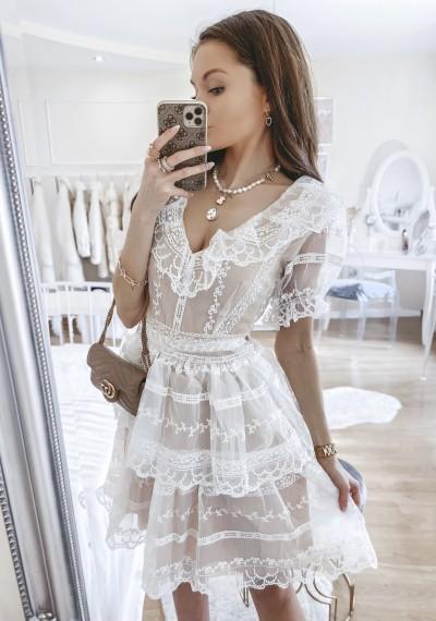 Sukienka GINA z wyszywanym iulem