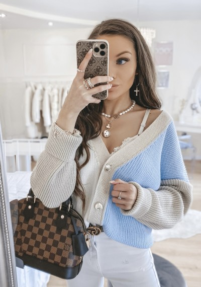 Sweter DUO rozpinany NIEBIESKI