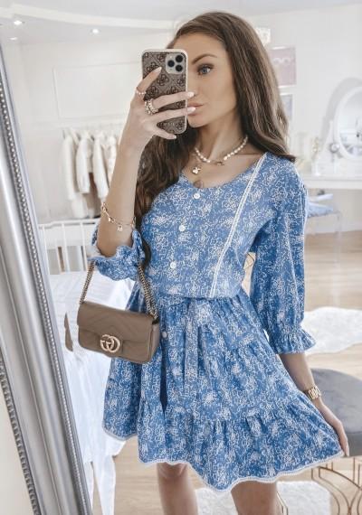 Sukienka SOLENTO niebieska