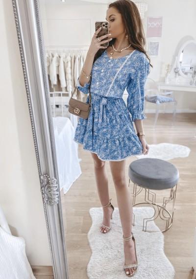 Sukienka SOLENTO niebieska 1