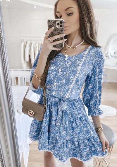 Sukienka SOLENTO niebieska 2