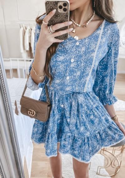 Sukienka SOLENTO niebieska 3