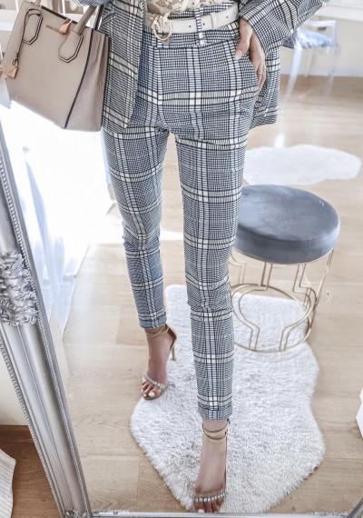 Spodnie SELENA w kratę