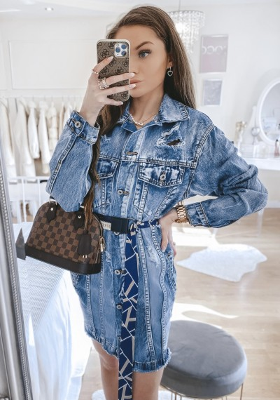 Dłuższa kurtka/sukienka jeansowa MERYLIN