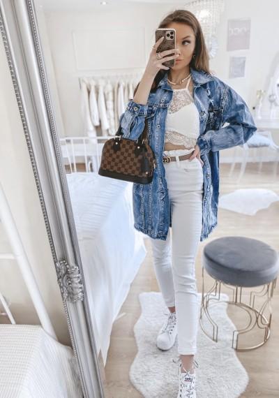 Dłuższa kurtka/sukienka jeansowa MERYLIN 1