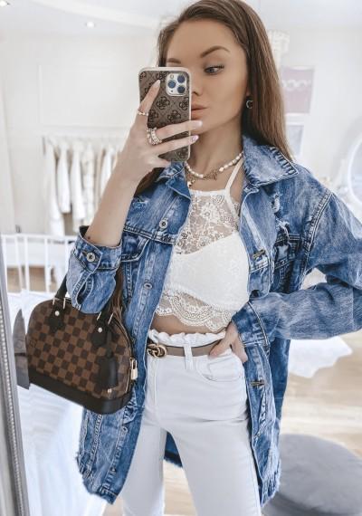 Dłuższa kurtka/sukienka jeansowa MERYLIN 2