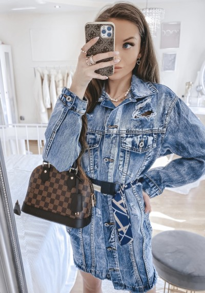 Dłuższa kurtka/sukienka jeansowa MERYLIN 3