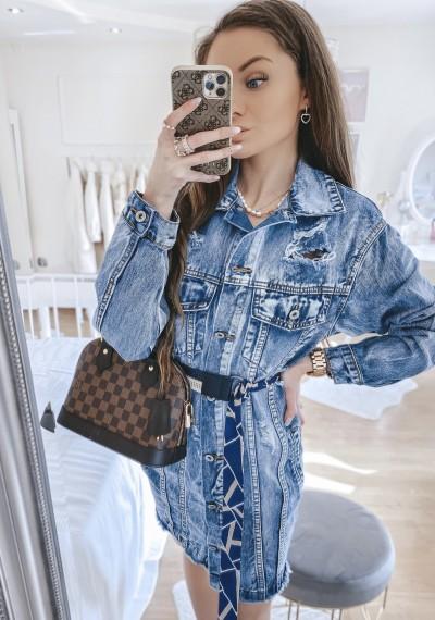 Dłuższa kurtka/sukienka jeansowa MERYLIN 4
