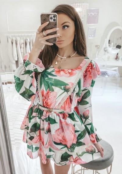 Sukienka LOUISIANA w różany print