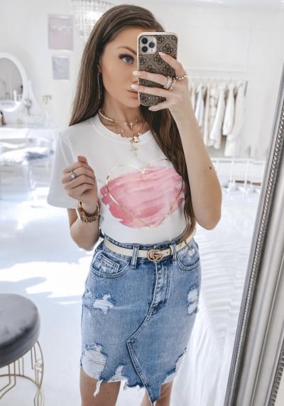 Spódnica ELLEN jeansowa asymetryczna